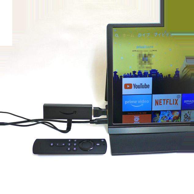 Fire TV Stickをモニターに接続すればパソコンが無くても動画を楽しむ事ができます